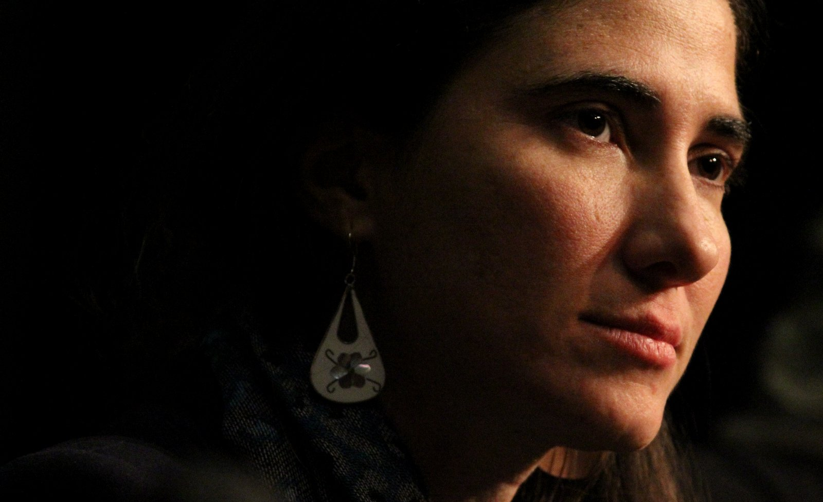 Cuban blogger Yoani Sánchez at Columbia Journalism School in New York. By Tracey Eaton